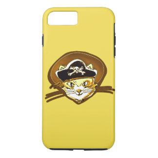 sweet pirate cat gold cartoon iPhone 8 plus/7 plus case