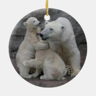 Sweet Polar bear cubs Christmas Ornament