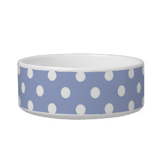 Sweet polka dots on blue background bowl