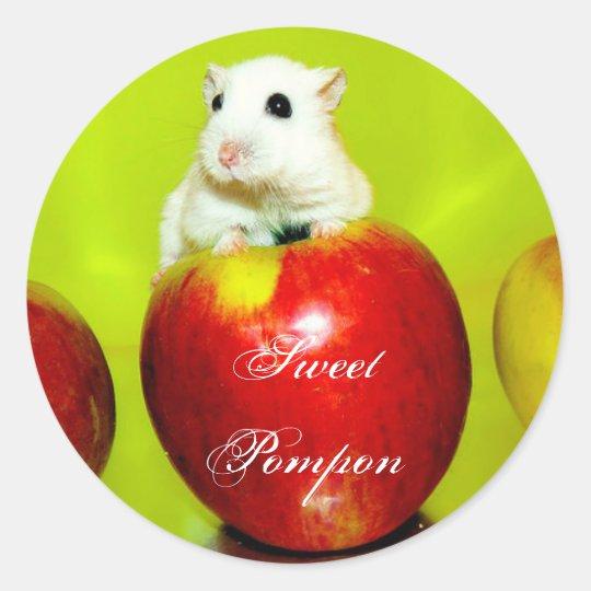 Sweet Pompon Classic Round Sticker