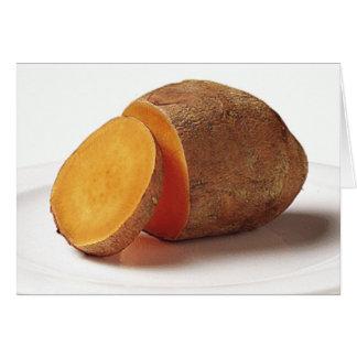 sweet potato greeting card