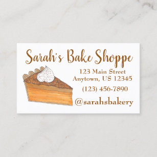 Pie baker business cards business card printing zazzle uk sweet potato pie slice bakery baker pastry chef business card colourmoves