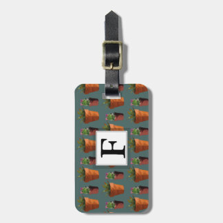 Sweet Potted Succulent Print Customisable Luggage Tag