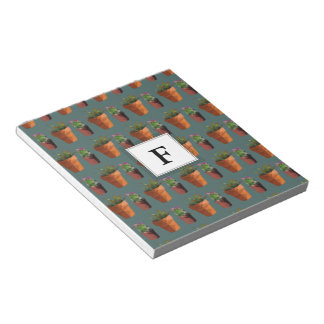 Sweet Potted Succulent Print Customisable Notepad
