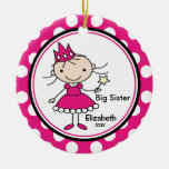 Sweet Princess Big Sister Christmas Ornament