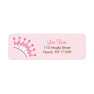 Sweet Princess Crown Tiara Address Labels