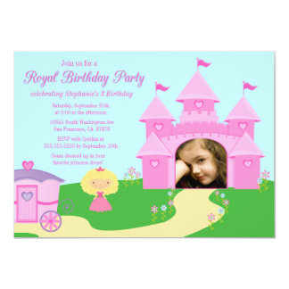 Sweet princess girl's birthday party invitation