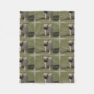Sweet Pug Dog Fleece Blanket