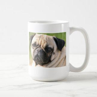 Sweet Pug Dog Photo Cards and Gifts Basic White Mug