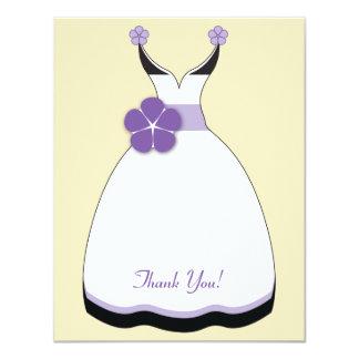 Sweet Purple and Vanilla Wedding Dress Note Card 11 Cm X 14 Cm Invitation Card
