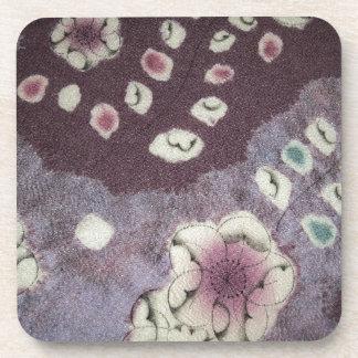 Sweet Purple Kimono Fabric Coaster