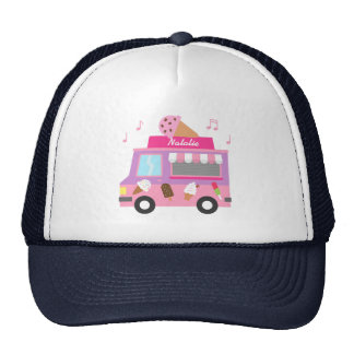 Sweet Purple Pink Ice Cream Truck For Girls Cap