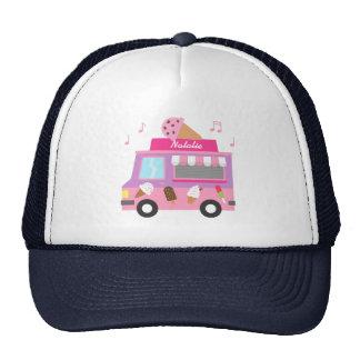 Sweet Purple Pink Ice Cream Truck For Girls Cap
