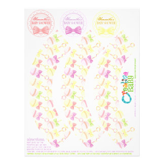Sweet Rattles Cupcake Wrappers & Toppers (Girly) 21.5 Cm X 28 Cm Flyer