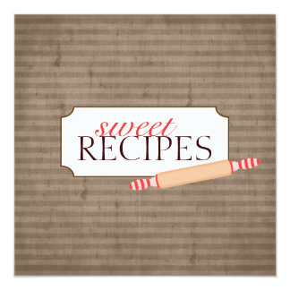 Sweet Recipe Trading Card Collection 13 Cm X 13 Cm Square Invitation Card