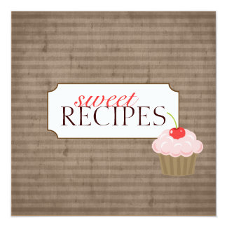 Sweet Recipe Trading Card Collection Custom Invites