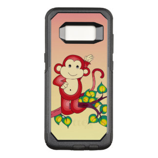 Sweet Red Monkey Animal OtterBox Galaxy S8 Case