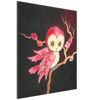 Sweet Red Owl Canvas Print