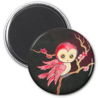 Sweet Red Owl Magnets