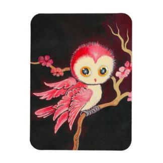 Sweet Red Owl Rectangular Magnet