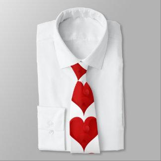 Sweet Red Valentine Love Heart Tie