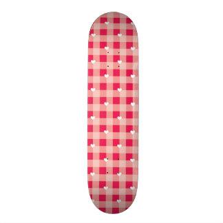 Sweet Red Valentine's background 21.6 Cm Skateboard Deck