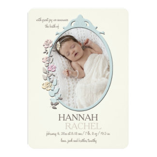 Sweet Reflection Photo Birth Announcement