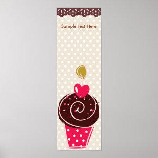 Sweet Retro Cupcake Banner Poster