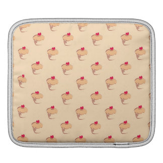 Sweet retro cupcakes muffins with heart iPad sleeves