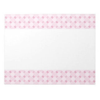 Sweet retro pastel baby pink pattern notepad