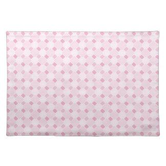 Sweet retro pastel baby pink pattern placemats