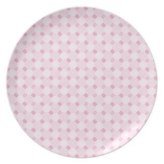 Sweet retro pastel baby pink pattern plate