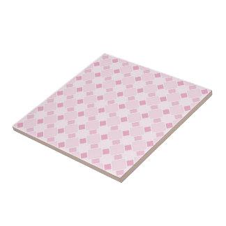 Sweet retro pastel baby pink pattern tile