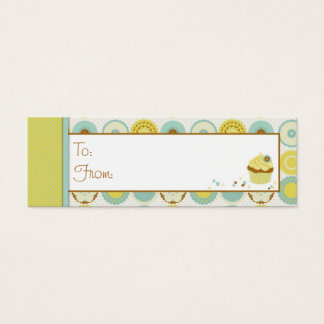Sweet Retro Skinny Gift Tag Mini Business Card