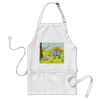 Sweet Rhino Mom and Baby Standard Apron