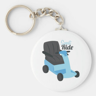 Sweet Ride Basic Round Button Key Ring