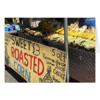 Sweet Roasted Corn, Street Fair, New York City NYC Card