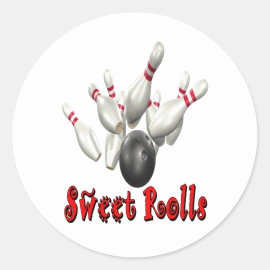 Sweet Rolls Bowling Classic Round Sticker