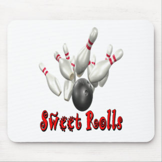 Sweet Rolls Bowling Mouse Pad