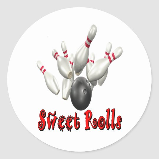 Sweet Rolls Bowling Round Sticker