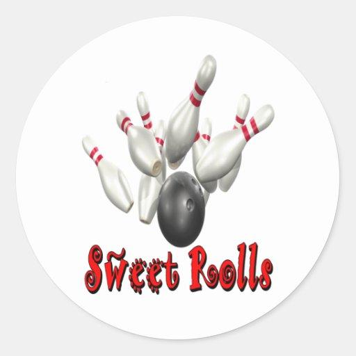 Sweet Rolls Bowling Stickers