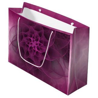 Sweet Romance Fuchsia Marble Large Gift Bag
