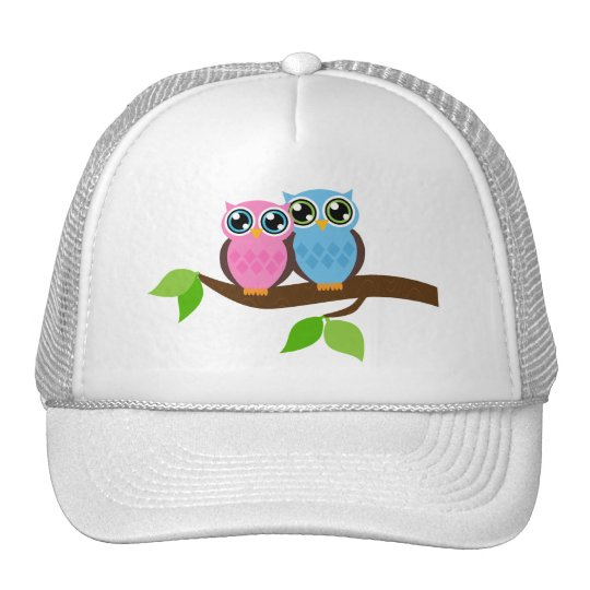 Sweet Romantic Owls Cap