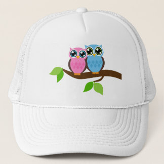 Sweet Romantic Owls Trucker Hat