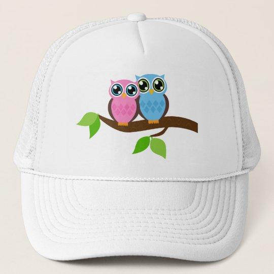 Sweet Romantic Owls Trucker Hat