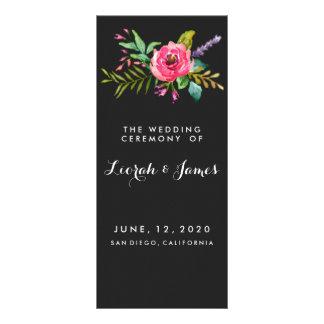 Sweet romantic watercolor flowers rack card design