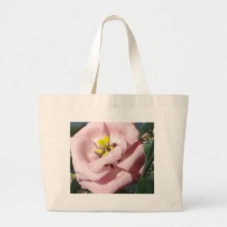 Sweet rose flower canvas bags