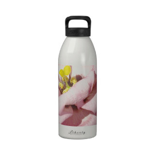 Sweet rose flower drinking bottles