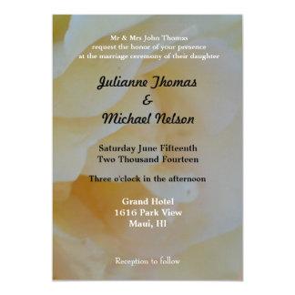 "Sweet Rose 5"" X 7"" Invitation Card"