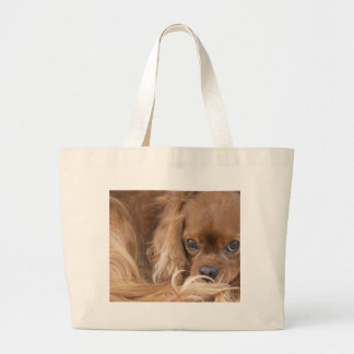 Sweet Ruby Cavalier King Charles Spaniel Jumbo Tote Bag